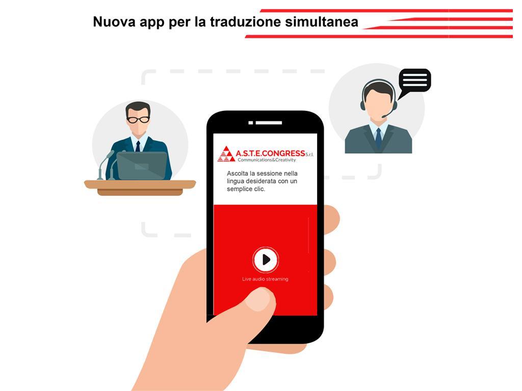 Siamo i PRIMI in Italia ad offrirti un nuovo servizio innovativo per la traduzione simultanea. Contattaci per saperne di più